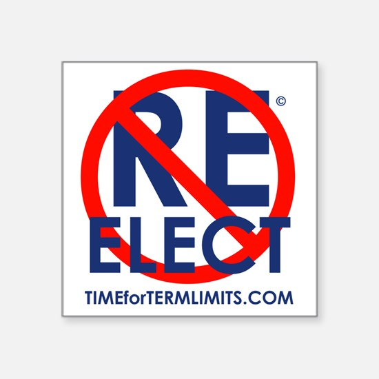 """Time for Term Limits - Do N Square Sticker 3"""" x 3"""""""