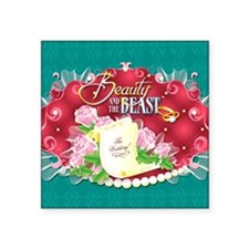 "Beauty And The Beast™ Square Sticker 3"" x 3"""