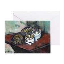 Suzanne Valadon Two Cats Greeting Card