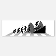 Mountain-Biking-B Sticker (Bumper)
