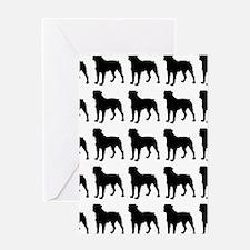Rottweiler Silhouette Flip Flops In  Greeting Card