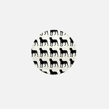 Rottweiler Silhouette Flip Flops In Bl Mini Button