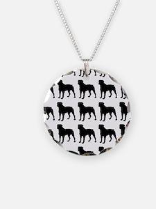 Rottweiler Silhouette Flip F Necklace