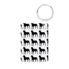 Rottweiler Silhouette Flip Keychains