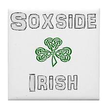 Soxside Irish - Celtic Shamrock Tile Coaster
