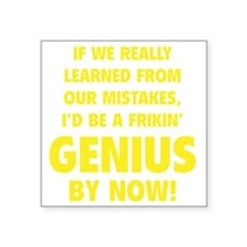 "geniusLearned1F Square Sticker 3"" x 3"""
