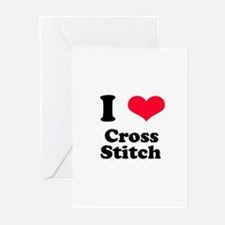I Love Cross Stitch Greeting Cards (Pk of 10)