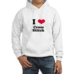 I Love Cross Stitch Hooded Sweatshirt