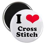 I Love Cross Stitch Magnet