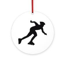 inline skater Round Ornament