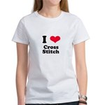 I Love Cross Stitch Women's T-Shirt