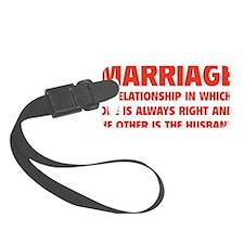 marriageHusb1D Luggage Tag