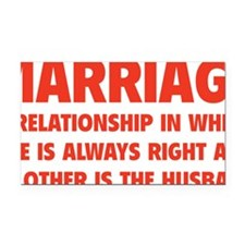marriageHusb1D Rectangle Car Magnet