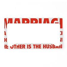 marriageHusb1D License Plate Holder