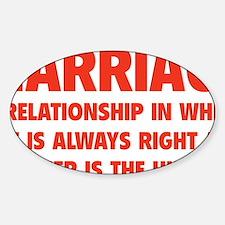 marriageHusb1D Sticker (Oval)