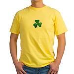 Shamrock Symbol Yellow T-Shirt