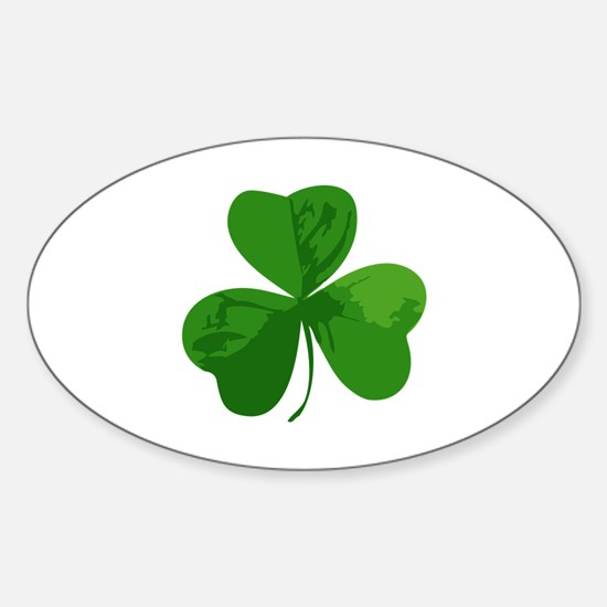 Shamrock Symbol Oval Decal