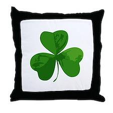 Shamrock Symbol Throw Pillow