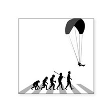 "Paragliding Square Sticker 3"" x 3"""