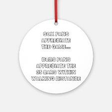 Appreciate The Game Round Ornament