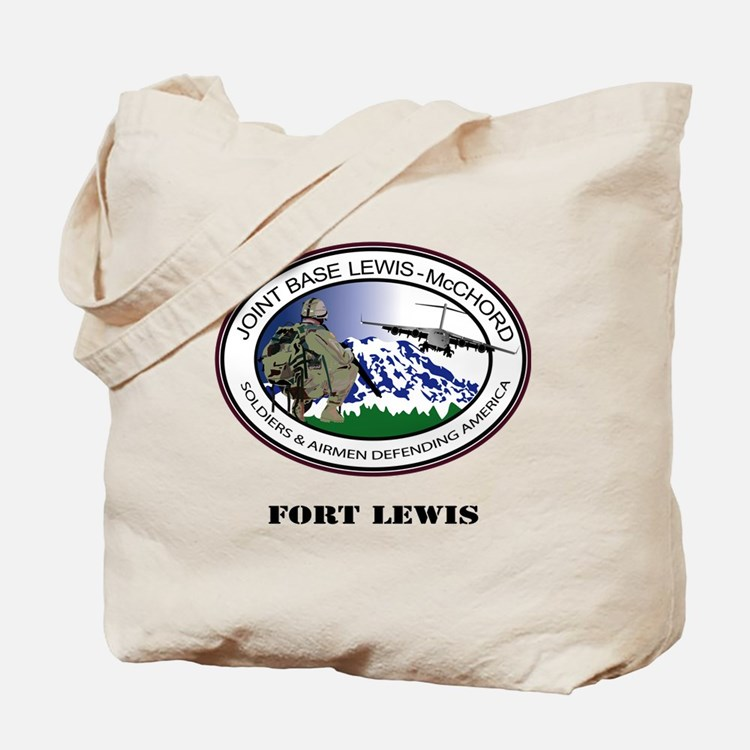 Fort Lewis with Text Tote Bag
