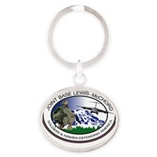 Fort Lewis with Text Oval Keychain