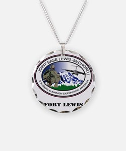Fort Lewis with Text Necklace