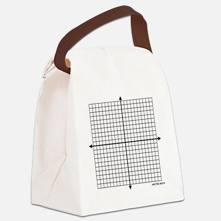 Four quadrant math graph paper Canvas Lunch Bag