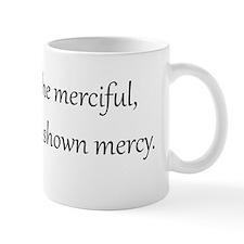 Mercy, Black on White, Beatitudes Mug
