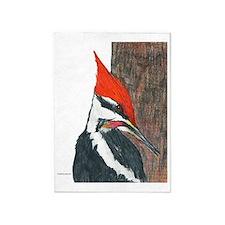 Pileated Woodpecker 5'x7'Area Rug