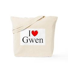 """""""I Love (Heart) Gwen"""" Tote Bag"""
