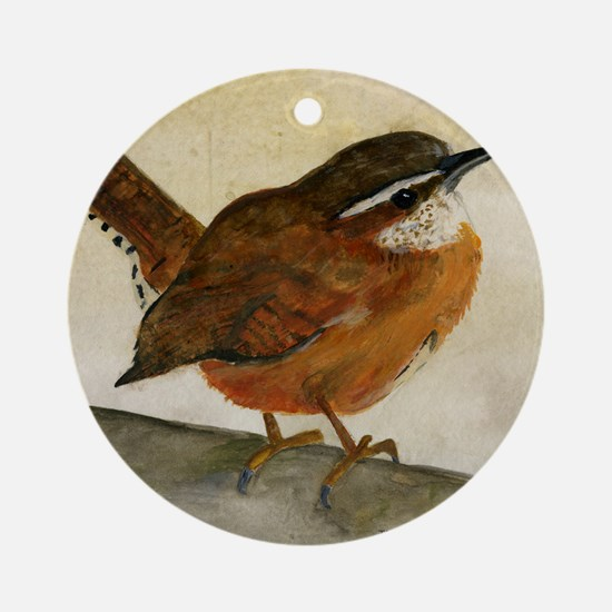 Carolina Wren Round Ornament
