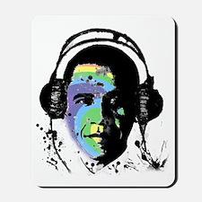 PopHarvey Barack Obama Rainbow Cropped Mousepad