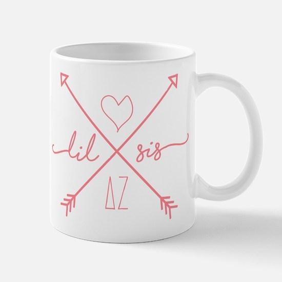 Delta Zeta Lil Sis Arrows Mug