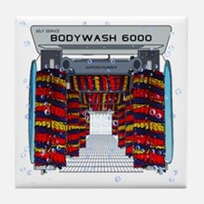 CAR WASH SHOWER CURTAIN Tile Coaster