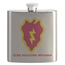 SSI - 25th Infantry Division with Text Flask