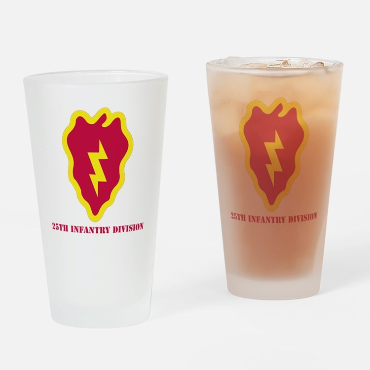 SSI - 25th Infantry Division with T Drinking Glass