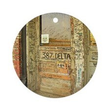 Ground Zero Delta Door Shower Curta Round Ornament
