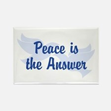 Peace Is the Answer Rectangle Magnet (10 pack)