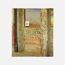 Ground Zero Delta Door Shower Curtai Throw Blanket