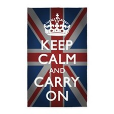 Keep Calm And Carry On 3'x5' Area Rug