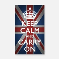 Keep Calm And Carry On Rectangle Car Magnet