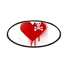 Emo Skull Heart Patches