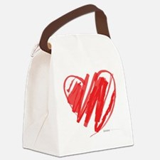 Crayon Heart Canvas Lunch Bag