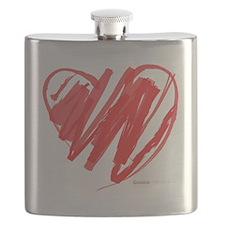 Crayon Heart Flask