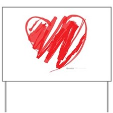 Crayon Heart Yard Sign