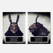 Evil Easter Bunny Rabbit Postcards (Package of 8)