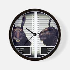 Evil Easter Bunny Rabbit Wall Clock