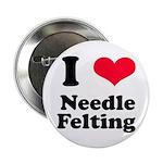 I Love Needle Felting Button