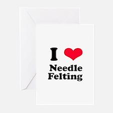 I Love Needle Felting Greeting Cards (Pk of 10